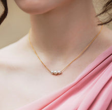 Load image into Gallery viewer, Pearl Trio Bridesmaid Necklace