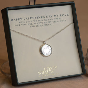 Valentine's Day Gift - Personalised Engraved Initials & Names Pendant - Large