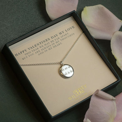 Personalised Engraved Pendant for Valentine's Day