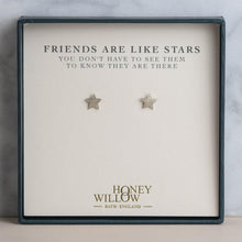 Load image into Gallery viewer, Friends Are Like Stars - Sterling Silver Star Studs