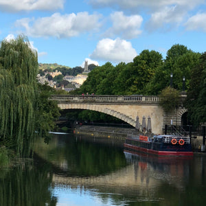 Bath, river Avon, independent business in Bath