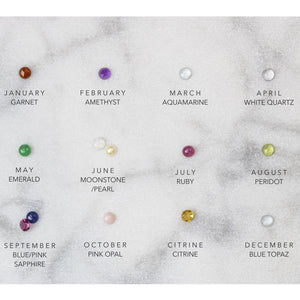 Birthstone chart for stud earrings Honey Willow