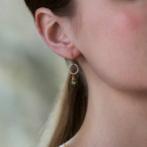 Delicate Birthstone Earrings