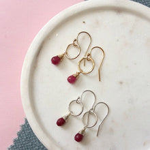Load image into Gallery viewer, Delicate Birthstone Earrings