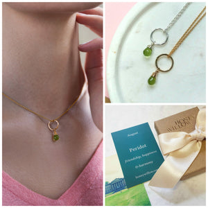 Dainty August birthstone necklace | Clare