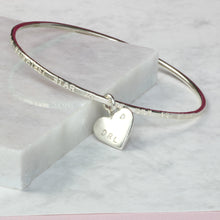 Load image into Gallery viewer, Personalised remembrance bracelet with diamond, commemorative jewelry personalized - Gracie