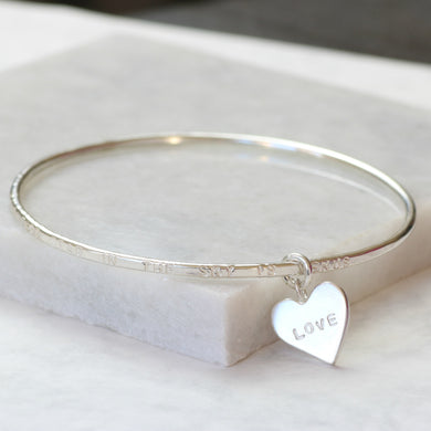 Personalized commemorative bracelet, personalised memorial jewelry, remembrance gift - Gracie