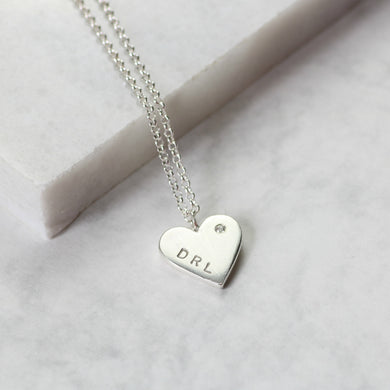 Personalised remembrance necklace with diamond, commemorative jewelry personalized - Gracie