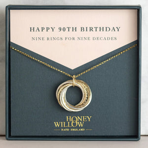 90th Birthday Necklace