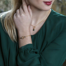 Load image into Gallery viewer, Dainty May birthstone bracelet | Luna