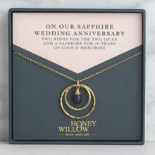 Load image into Gallery viewer, Sapphire Anniversary Necklace - 45th Anniversary Gift