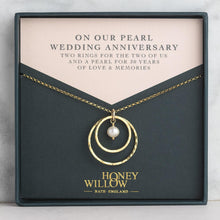 Load image into Gallery viewer, Pearl Anniversary Necklace - 30th Anniversary Gift