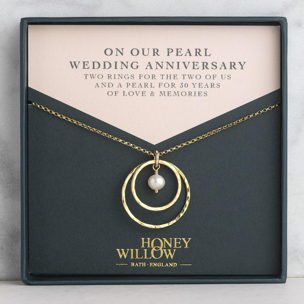 Pearl Anniversary Necklace - 30th Anniversary Gift