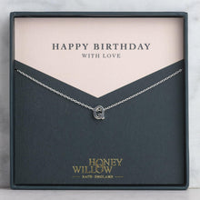 Load image into Gallery viewer, Birthday Gift - Initial Necklace - Personalised Gift Note