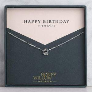 Birthday Gift - Initial Necklace - Personalised Gift Note