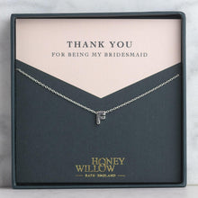 Load image into Gallery viewer, Personalised Bridesmaid Gift - Initial Necklace