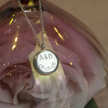 Load image into Gallery viewer, Personalised Engraved Initials & Date Pendant - Large