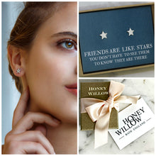 Load image into Gallery viewer, Star earrings, star stud earrings, friends are like stars, meaningful gift for friend - Astra