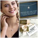 Star necklace silver, friends are like stars, meaningful gift for friend - Astra