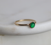 Green onyx ring, May birthday gift, green stacking ring - Juliet