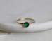 Green onyx ring May birthday gift green stacking ring