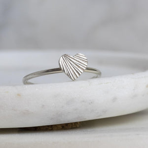 Heart Ring - Sterling Silver Handmade Ring