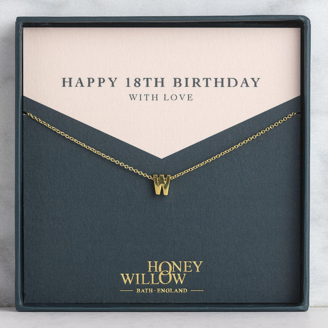 Personalised 18th Birthday Gift - Initial Necklace