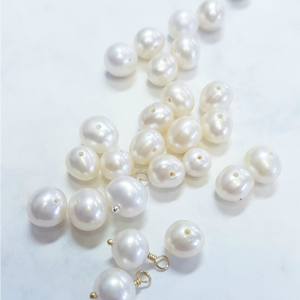 Dainty pearl infinity necklace | June birthstone | Luna