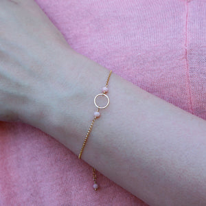 Opal Infinity Bracelet, October Birthstone Jewelry, Delicate Jewelry for Sister, Wife, Girlfriend - Luna