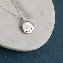 Load image into Gallery viewer, Engraved Family Necklace with Birthstones - Large