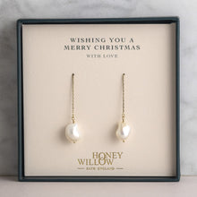 Load image into Gallery viewer, Threader Earrings with Freshwater Pearls
