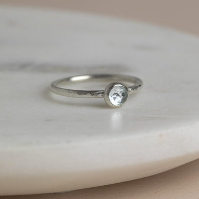 Silver Birthstone Ring