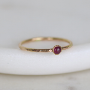 14kt Gold Birthstone Ring