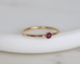 Dainty ruby ring, July birthstone stacking ring, July birthday gift - Juliet