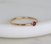 dainty ruby ring july birthstone stacking ring