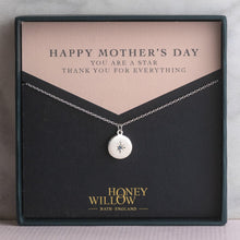 Load image into Gallery viewer, Mother's Day Gift - Engraved Birthstone Star Set Pendant - Petite