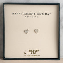 Load image into Gallery viewer, Valentine's Day Gift - Sterling Silver Heart Stud Earrings