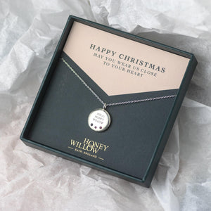 Christmas Gift for Mum - Engraved Family Necklace with Birthstones