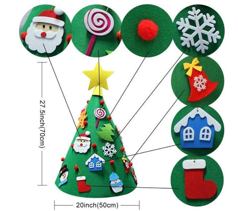 Image of 3D DIY Felt Christmas Tree