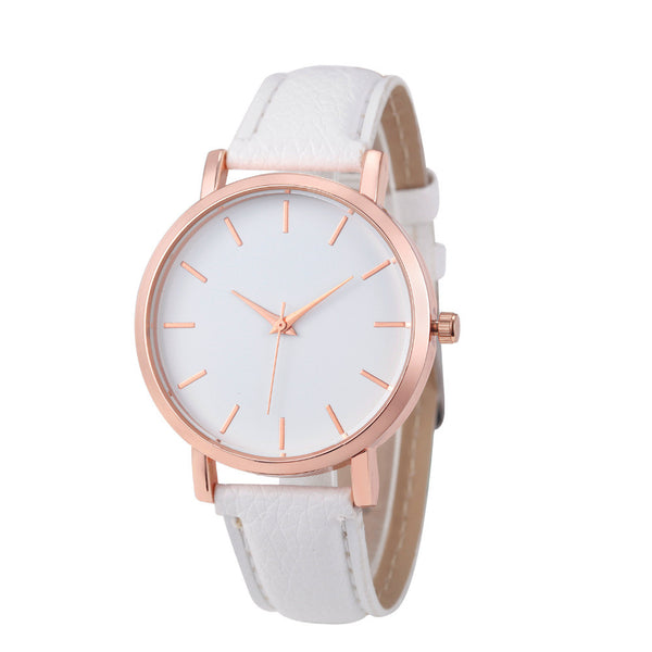 Women's Quartz Leather Band Wrist Watch