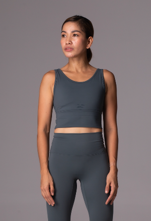 Lush Sports Bra - Grayish Teal