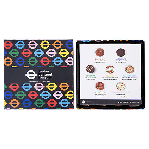 Montezuma's London Transport Museum Tube Line Truffles