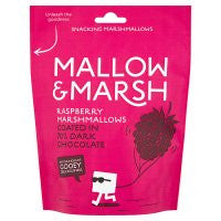 Mallow & Marsh Raspberry Marshmallows Coated in Dark Chocolate