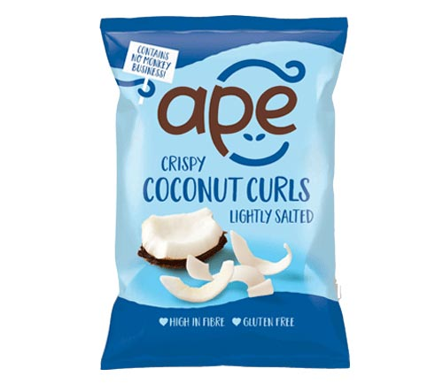 LIGHTLY SALTED COCONUT CURLS