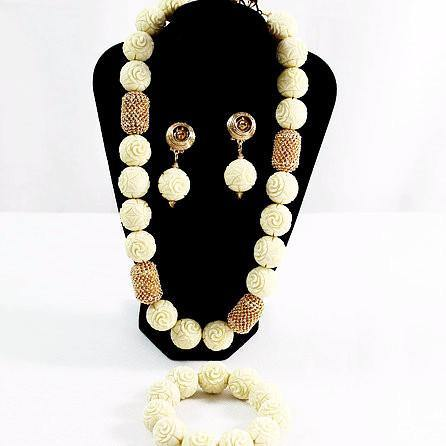Necklace Bead set with Matching Bracelet
