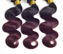 Brazilian Hair Weave-Ombre-Grade 7A colour 1b/99j burgundy