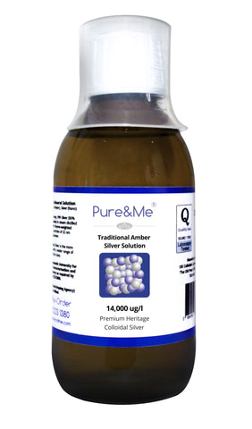 Colloidal Silver 200ml bottle from Pure and Me