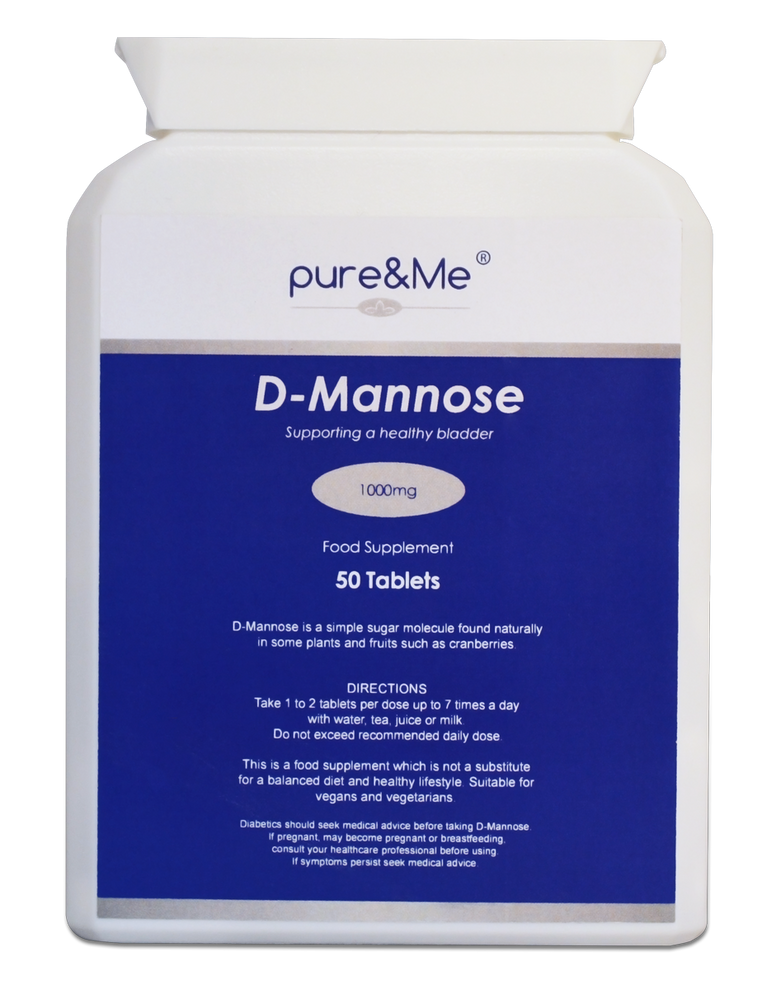 D-Mannose tablets from Pure and Me
