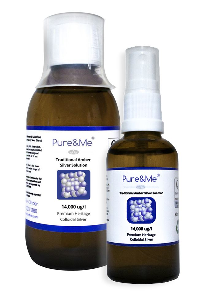 Colloidal Silver 200ml Bottle Plus 50ml Spray Re-fillable Bottle Only £23