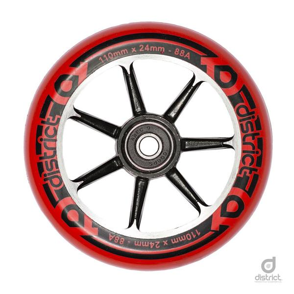District Scooters 110mm Cast Alloy Core Twin Pack Wheels